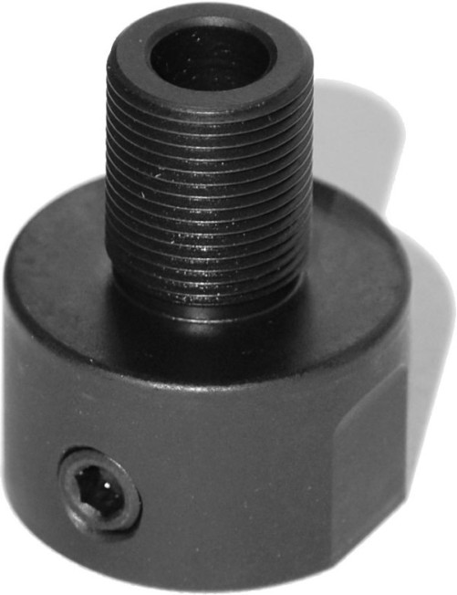 S w m p threaded barrel adapter quot black