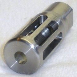 .25 / 6.5mm and smaller Muzzle Brake - Bright Stainless