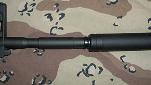 Long FAKE Suppressor for Non-threaded Barrel - 6 Inch - Custom Fit