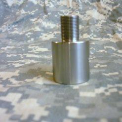 AR-15 Plain Barrel Threaded Barrel Adapter - Bright Stainless