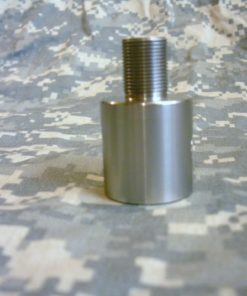 AR-15 Plain Barrel Threaded Barrel Adapter - Bright Stainless