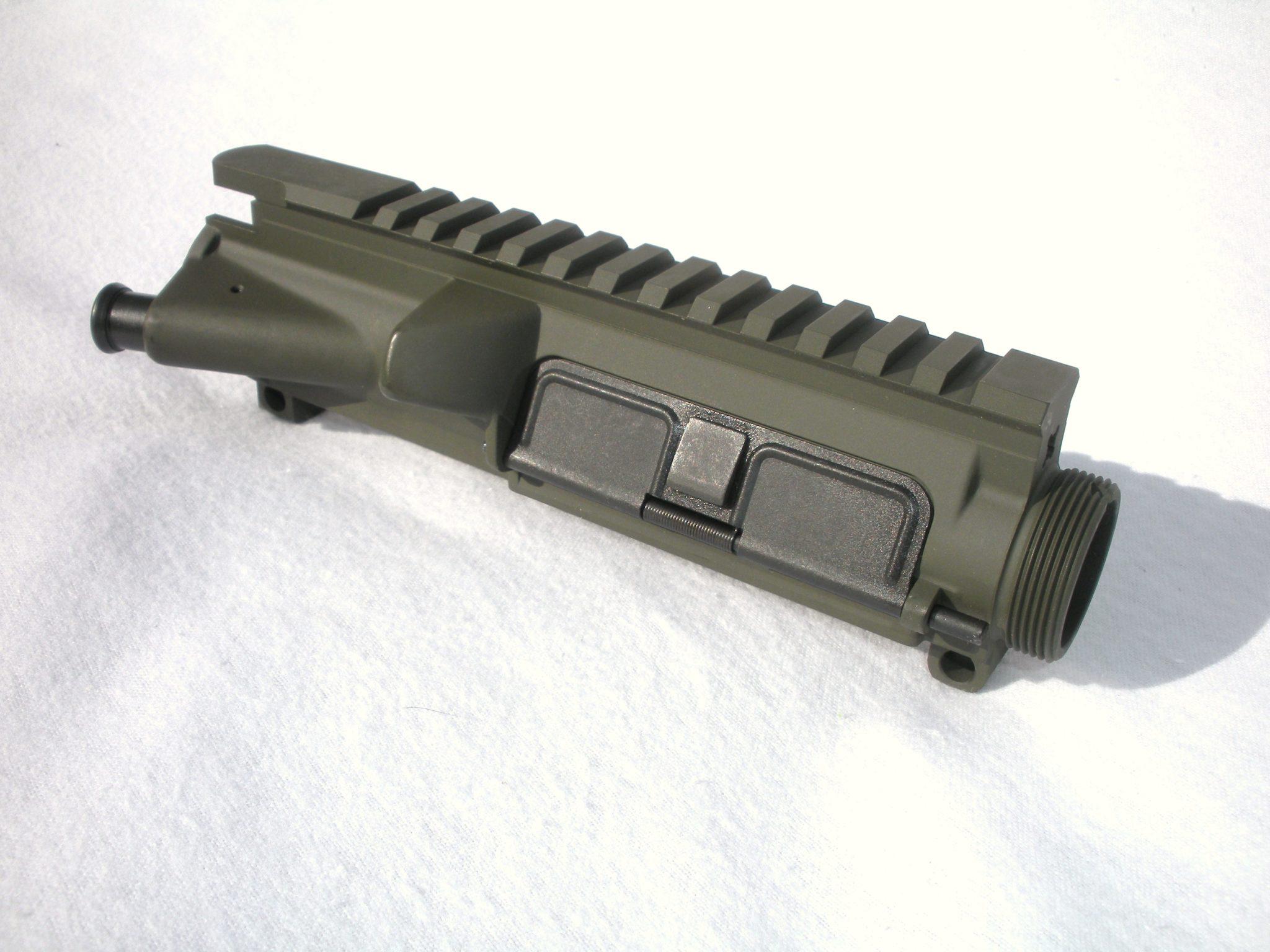 AR15 Upper Receiver - Assembled - O D  Green Cerakote