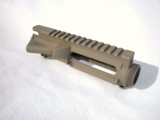 AR15 Upper Receiver - STRIPPED - FDE Cerakote