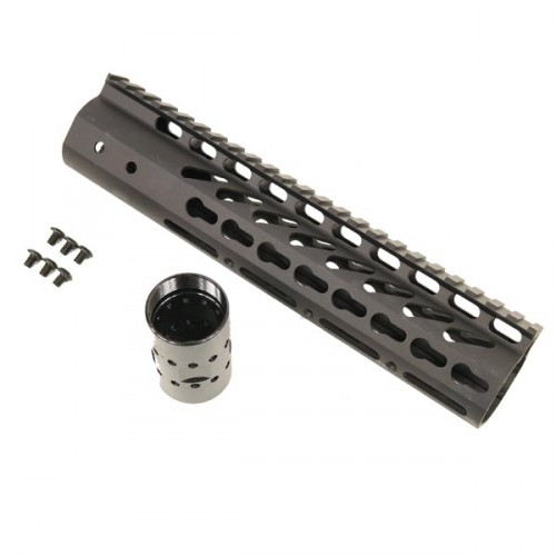 """10"""" Ultra Lightweight KEY MOD Free Float Hand Guard with Picatinny Top Rail"""