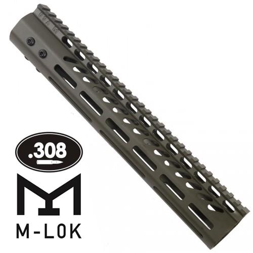 "GunTec AR .308 12"" M-LOK Free-Float Handguard (GT-12MLK-308-G)"