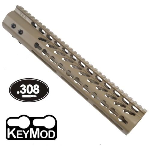 "GunTec AR .308 12"" KeyMod Free-Float Handguard (GT-12JK-308-E)"