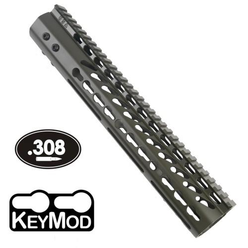 "GunTec AR .308 12"" KeyMod Free-Float Handguard (GT-12JK-308-G)"