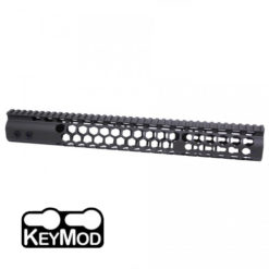 "GunTec 15"" Air Lite Series ""Honeycomb"" KeyMod Free-Float Handguard with Monolithic Picatinny Rail (GT-15HC-AL)"