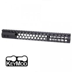 "GunTec 15"" Air Lite Series ""Honeycomb"" KeyMod Free-Float Handguard with Monolithic Picatinny Rail (GT-15HC-AL)"
