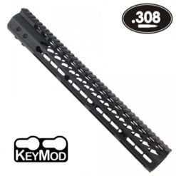 "GunTec 15"" KeyMod Free-Float Handguard with Monolithic Picatinny Rail - AR-10/.308 (GunTec 15"" M-LOK Free-Float Handguard with Monolithic Picatinny Rail - AR-10/.308 (GT-15MLK-308)"