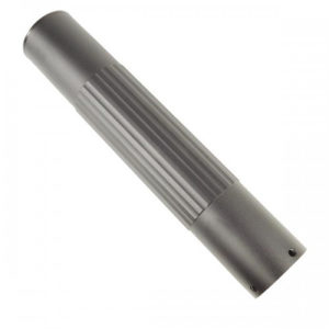 "10"" Free Floating Smooth Tube Handguard With Knurled Grooves (GT-10FR)"