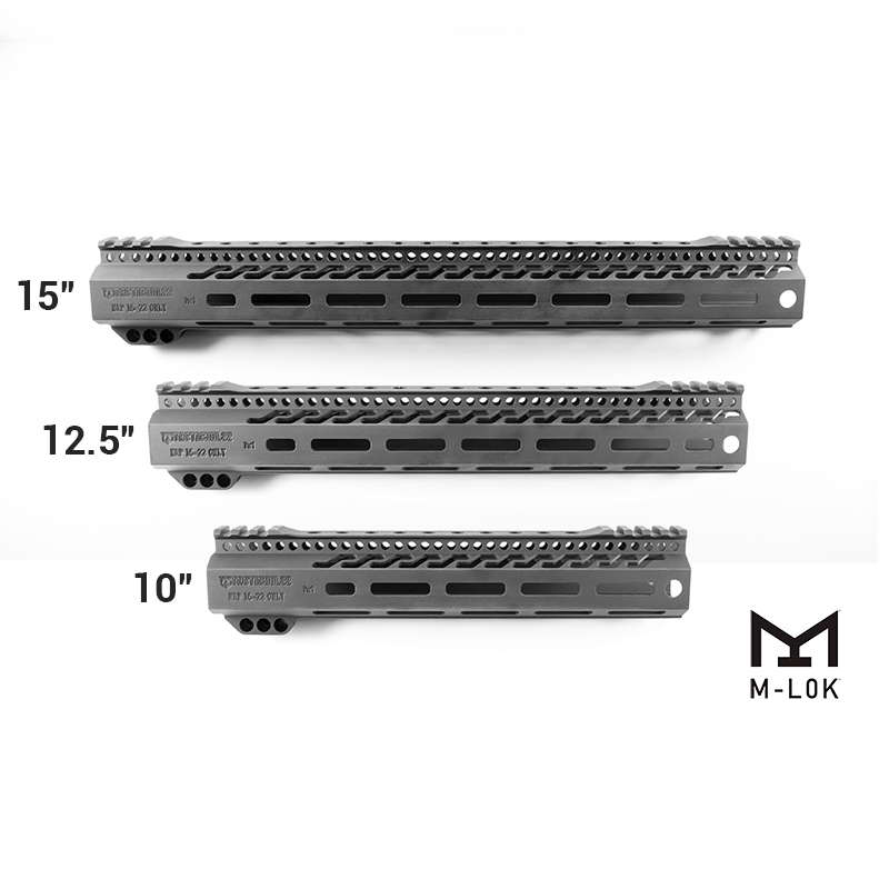 Quot m lok free float handguard with picatinny rail for s
