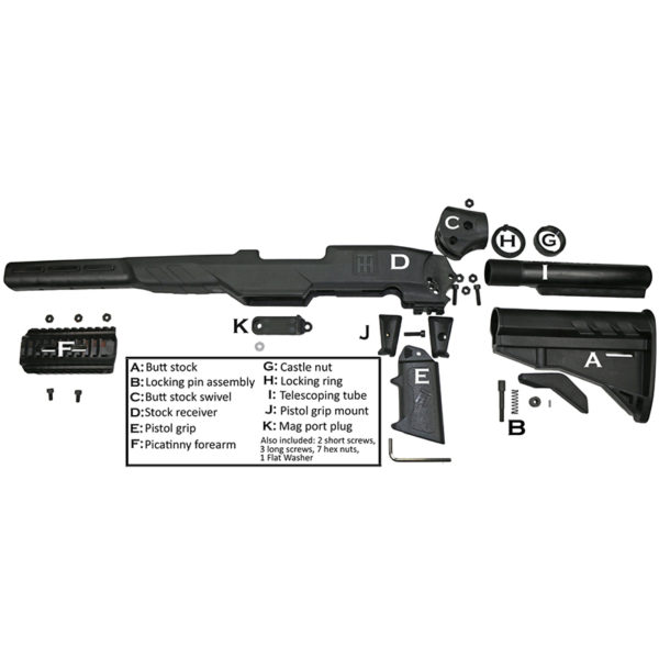 Tactical Marlin Glenfield Model 60-795 Stock - Diagram